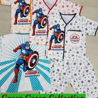 Baju Tidur/piama/piyama Katun Anak Captain America 1-6