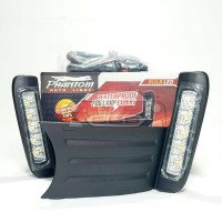Lampu DRL LED Fog Lamp Phantom HD-390 Honda Jazz RS 2011 ~ ON