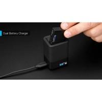 Jual gopro dual charger + battery hero 5 black original Murah