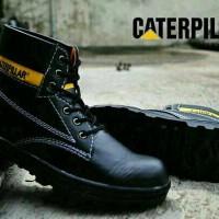 Sepatu Safety Caterpillar Licin Hitam