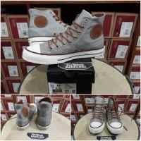 Converse All Star CT OX HI Leather Logo Grey/Tan BNIB Unisex