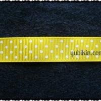 10cm Pita Grossgrain Bintik 15mm Kuning