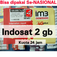 Jual kartu perdana internet indosat im3 2gb kuota data 1gb+ 1 gb 4g mentari Murah