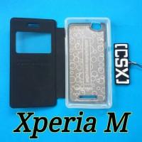 Flipcover Sony Xperia M dual dan Single C1904 C1905 C2004 C2005