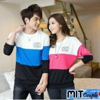 Knock LP (cowo biru, cewe pink),lengan panjang,baju couple,kaos couple