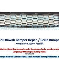 Grill bawah Bemper depan Honda BRIO 2016+ Grille Bumper Baru asli RS