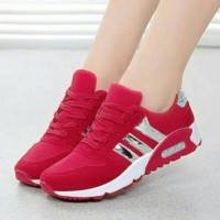 Jual sepatu adidas wanita murah/ecer/grosir terbaru sport/kets/casual merah Murah
