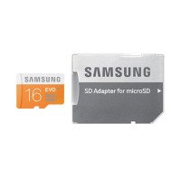 Samsung EVO Micro SDHC with Adapter Memory Card [16 GB]