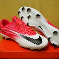 Sepatu Bola / Soccer Nike Mercurial Vapor XI TL Racer Pink White - FG