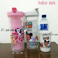 Teko Set plastik / gelas set / peralatan rumah tangga anak