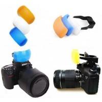 Flash Diffuser Pop-up 3 Color (White / Blue / Orange / Bracket)
