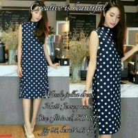 wassle polka~Dress polkadot~Dress wanita simple~Dress online murah~Sg
