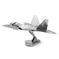 Mainan edukatif 3d Jigsaw puzzle metal Pesawat F-22 RAPTOR