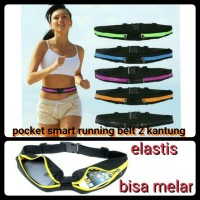 pocket smart belt 2 kantung running sport elastic belt tas lari sepeda