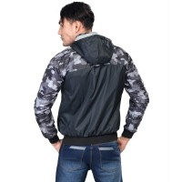 Jaket Flip For Men Gray Com Black