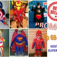 PROMO !! BAJU BATMAN SUPERMAN IRONMAN CAPTAIN AMERIKA SPIDERMAN ANAK