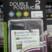 Murah ! Baterai Log On Double Power Xiaomi MI4S 4000mAh / Battery /
