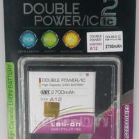 PROMO Baterai Log On Double Power Evercross A12 Battery Batre
