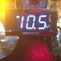 Voltmeter Digital Rizoma Volt meter Waterproof Slim mini seperti Koso