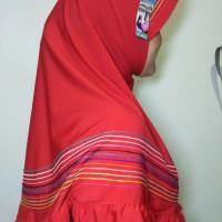 Hijab Instan Adzam - tosca , red, Yellow