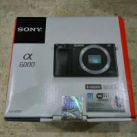 Kamera Sony Alpha A6000 Body Only Baru Garansi Resmi BNIB