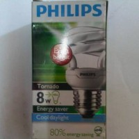 lampu tornado philips 8w