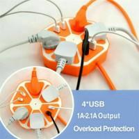 Stop kontak hexagon socket plus usb ( colokan listrik )