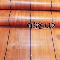 Jual WALLPAPER STICKER 45CMX5M- WPS139- TEAK WOOD LIST Murah
