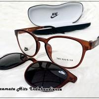 harga Frame Kacamata Fashion Nikee Clip On 7003 Polarized Lense Tokopedia.com