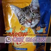 MEOW MIX SEAFOOD MEDLEY 510G - Makanan Kucing / Dry Cat Food