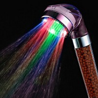 Jual LED Negative Ion SPA Bathroom Hand-held Shower Head (7 Color Light ) Murah