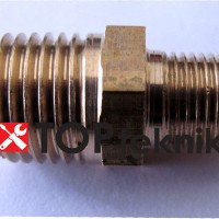 Double Nepel Niple Neple drat luar 1/4 1/8 kompresor