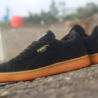 sepatu pria puma suede original premium full black gum 39-44
