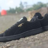 sepatu pria puma suede original premium full black 39-44