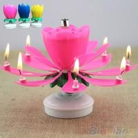 Lilin Music Bunga Lotus / Candle Lotus Flower