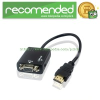 HDMI to VGA Male Adapter with Audio Port - Black