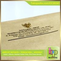Cetak Amplop Notaris / Pengacara / Advokat + Logo Garuda Emas