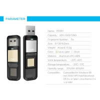 DM Flashdisk Enkripsi Fingerprint 32GB - PD061