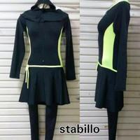 [BR] Termurah Baju renang muslim / muslimah Wanita Polos Size Besar 3L