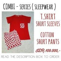 baju tidur wanita kaos kombi cln katun jpg lgn pdk/cln seksi M/P M/M