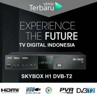 Jual Set Top Box DVB-T2 SKYBOX H1 Bonus Kabel HDMI sama Output /Loop out Murah