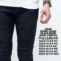 Jual pull&bear biker jeans full black cool/celana jeans/celana panjang Murah