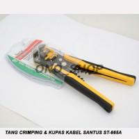 Tang Crimping & Kupas Kabel Santus ST-665A