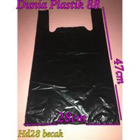 hd28 isi 50lembar / kantong plastik kresek hitam tipis kuat /lebr28cm