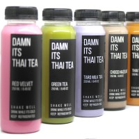 Damnits thai tea Green tea, Thai Tea, Taro, Red Velvet, Choco Hazelnut