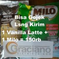 Jual Nescafe Vanilla Latte 640gr + Milo Complete Mix Profesional 960gr Murah