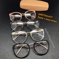 FREE lensa minus - frame kacamata baca wanita lindafarrow 5969