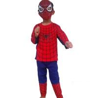 Jual Promo Baju Kaos Anak Kostum Topeng Superhero Spiderman/ Laki laki Murah