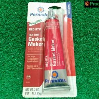 High Temp Red Silicone Sealant / Lem Silikon Merah 81160 85 G Permatex