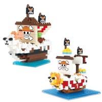 Nanoblock Lego Kapal One Piece Kapal Thousand Sunny Figure Luffy Jinbe